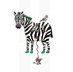 Zeb the Zebra Pendulum Wall Clock by Allen Designs